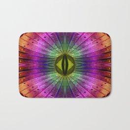 rainbow wood Bath Mat