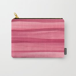 Pink Watercolor Lines Carry-All Pouch