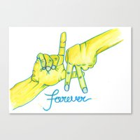 lakers Canvas Prints featuring Lakers Forever by NBA Textile