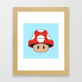 Are We Not Mushroom Framed Art Print
