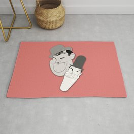 Laurel and Hardy Caricature Artwork, Based on the Original - Another Fine Mess Rug