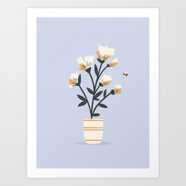 Bumble Bee Flowers Art Print
