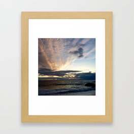 Laguna sunset Framed Art Print