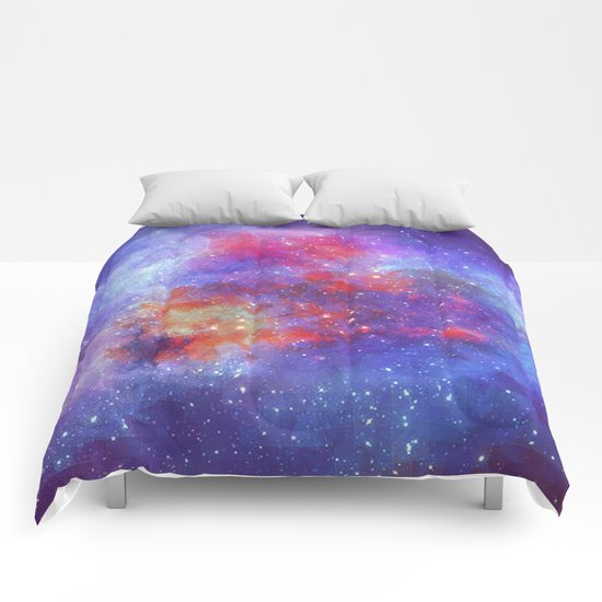 Heart on Universe Comforters