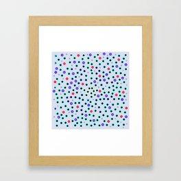 Dark Spots and Circles Framed Art Print