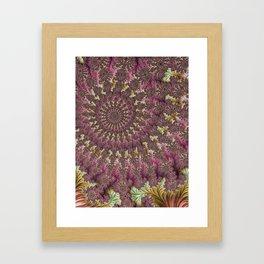 Spiral Fractal Framed Art Print