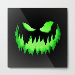Evil Green ghost Metal Print