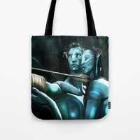 avatar Tote Bags featuring Avatar by Dano77