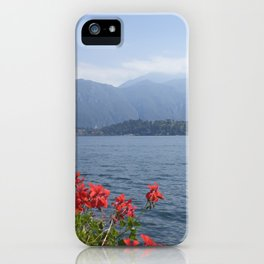 Panoramic view of Lake Como, Italy. iPhone Case