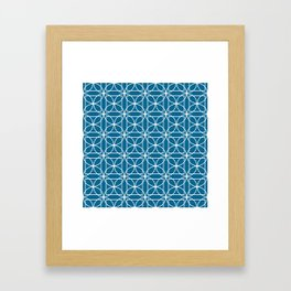 Cirlces and Square - Midnight Framed Art Print