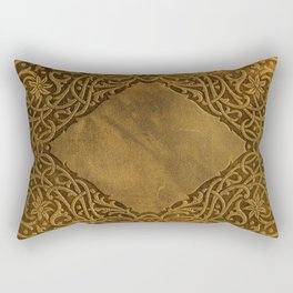 Vintage Ornamental Book Cover Rectangular Pillow