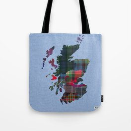 Scotland Counties Fabric Map Art Tote Bag