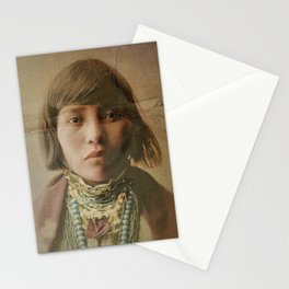 Young Native American Girl 1904 Stationery Cards