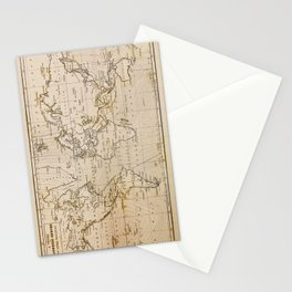 World Map 1844 Stationery Cards