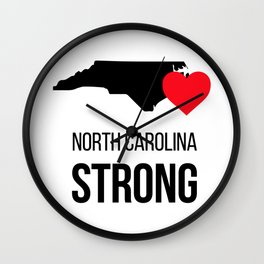 North Carolina strong / Hurricane season Wall Clock
