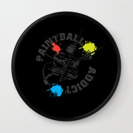 Great Paintball Design Outdoor Gotcha Wall Clock