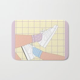 Spring Day Illustration Bath Mat