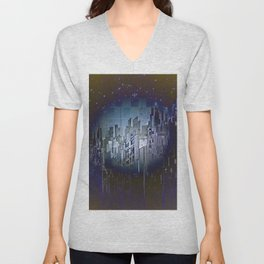 Walls in the Night - UFOs in the Sky Unisex V-Neck