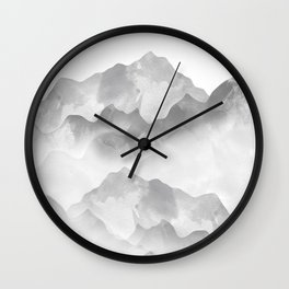 miss colored mountains Wall Clock