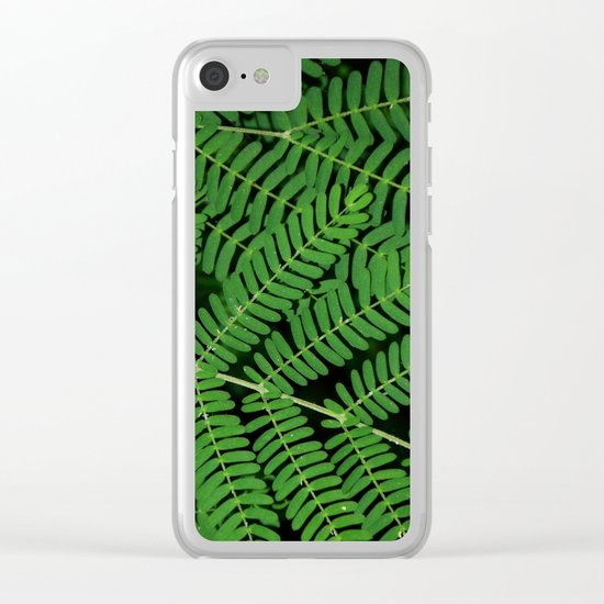 Green Ferns Clear iPhone Case