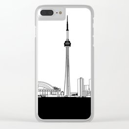 Toronto Skyline - Black Base Clear iPhone Case