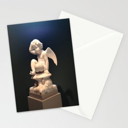 Contemplative Cupid Stationery Cards