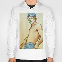 lou reed Hoodies featuring Lou by NathanRapportArt