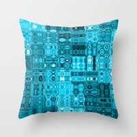 blueprint Throw Pillows featuring Blueprint by Alice Gosling