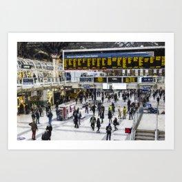 London Train Station Art Art Print