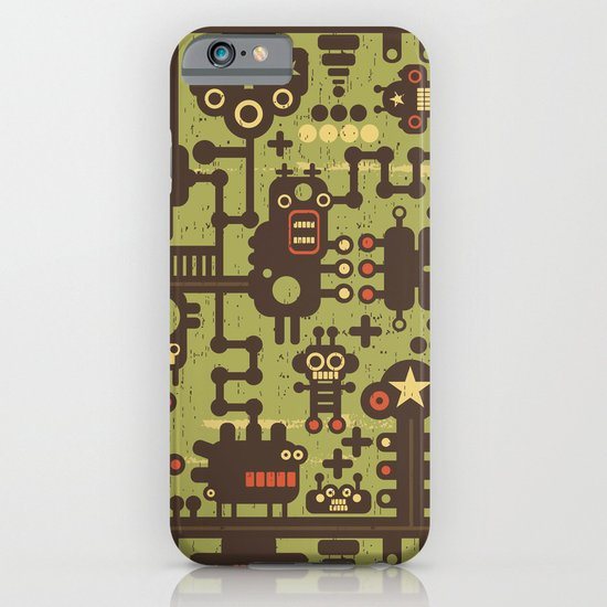 World of robots. iPhone & iPod Case