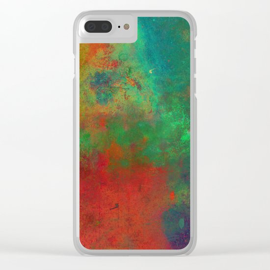 Lose Yourself In Colour (Abstract, textured painting) Clear iPhone Case