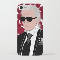 karl lagerfeld iPhone & iPod Cases featuring Karl Lagerfeld by Stephanie Jett