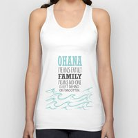 lilo and stitch Tank Tops featuring ohana means family.. lilo and stitch disney...  by studiomarshallarts