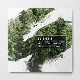 Slytherin Nature Metal Print