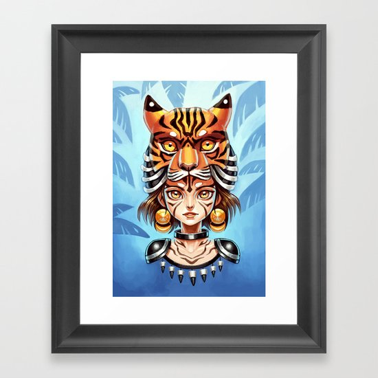 Tiger Tribe Framed Art Print