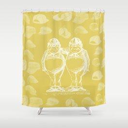 Tweedledum, Tweedledee and Caps Shower Curtain