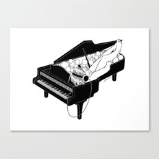 Turn on the music, Turn off your mind Canvas Print