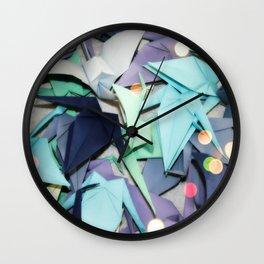 Senbazuru | shades of blue Wall Clock