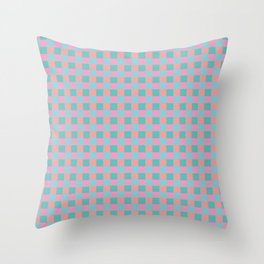 Pink patern design masonry Throw Pillow
