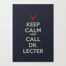 Keep Calm and Call Dr. Lecter Canvas Print