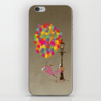 brompton iPhone & iPod Skins featuring Love to Ride my Bike with Balloons even if it's not practical. by Wyatt Design