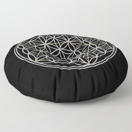 Flower of Life and Star of David Floor Pillow