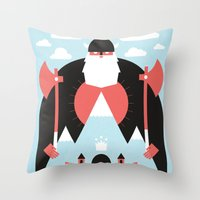 king Throw Pillows featuring King of the Mountain by Chase Kunz