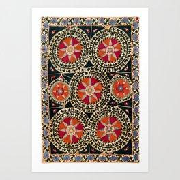 Katti Kurgan Suzani Uzbekistan Embroidery Print Kunstdrucke