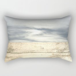 landscape 001: telegraph sky over white woods Rectangular Pillow