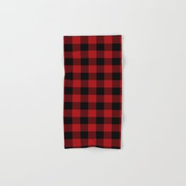 Red & Black Buffalo Plaid Hand & Bath Towel