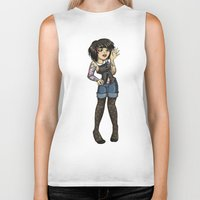 charlie Biker Tanks featuring Charlie by Thedustyphoenix