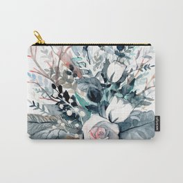 Frostflowers Carry-All Pouch