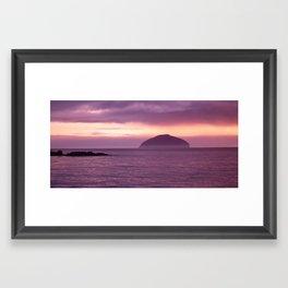 ailsa craig Framed Art Print