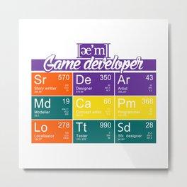 ae'm Game developer Metal Print